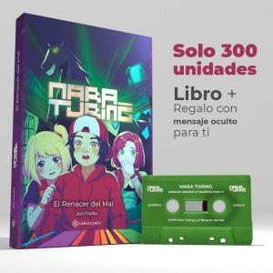 Libro de Mara Turing con cassette que incluye un mensaje secreto